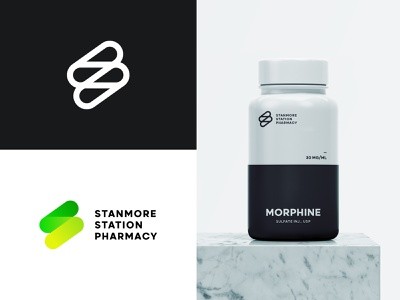 Stanmore Station Pharmacy craft health pharmacist pill icon branding brand store pharmacy logo