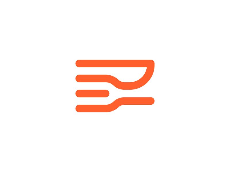 Foodoso startup application restaurant tasty fork knife branding logo food