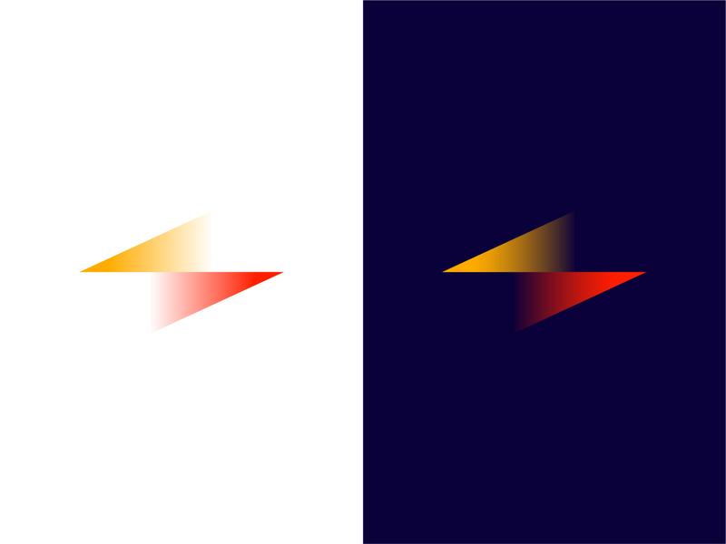 Thunder Projections lighting bolt logo design startup icon illusion projections thunderbolt branding agency brandidentity brand design branding logo