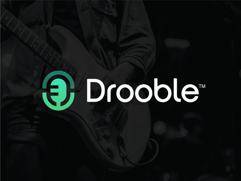 Drooble startup music producer spread sound branding microphone logo