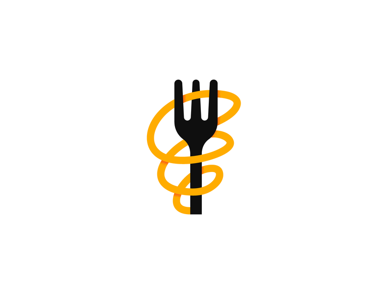 Pasta restaurant italian food fork startup eat branding logo illustration icon graphic pasta food