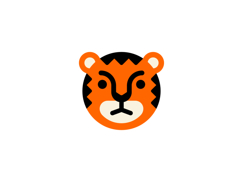 Angry Boy face boy angry design animal head branding logo tiger