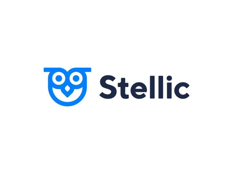 Stellic learning knowledge startup education bird owl identity brand symbol minimal mark design branding logo