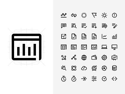 Edgelab Iconography grid lines stroke iconography identity icon design branding logo icons pack icons icon