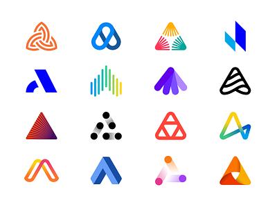 Logo Alphabet - A Lettermarks logo design abstract minimal lettermark branding brand logo collection logos logo
