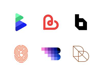 Logo Alphabet - B Lettermarks logodesign abstract minimal letter icon branding brand monogram lettermark logoalphabet logotype logo design b logo