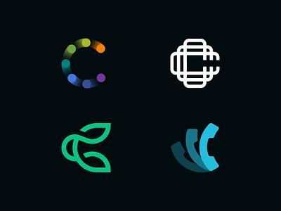 Logo Alphabet - C Lettermarks symbol logo design icon c minimal abstract branding brand design letter monogram logomark alphabet logo