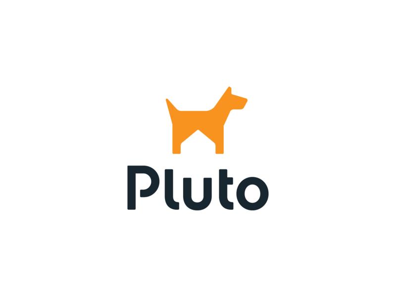 Pluto doggy logos identity icon brand design wordmark house negative space protector safe guard dog protection home brand identity branding brand logotype logodesign logo