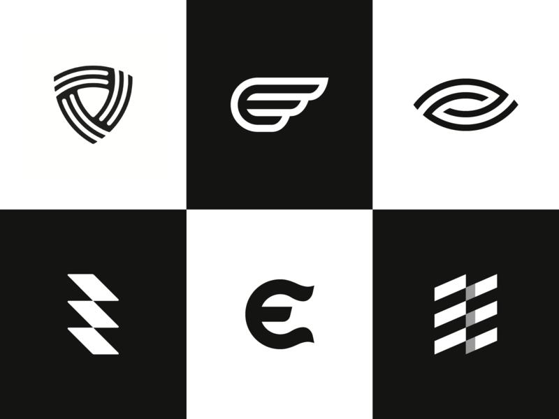 Logo Alphabet - E Lettermarks