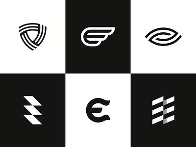 Logo Alphabet - E Lettermarks startup minimal alphabet identity design branding brand monogram lettermark logo e