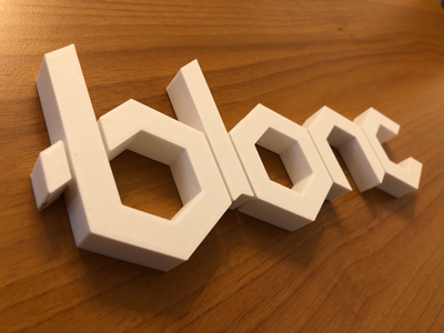 Blonc 3D printed Logo