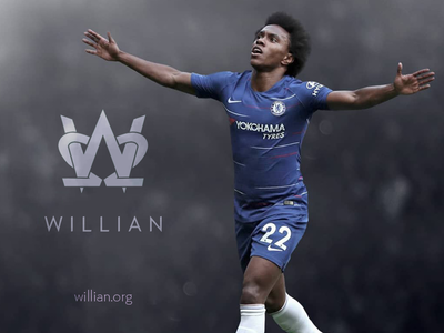 Willian 22 footballer Monogram