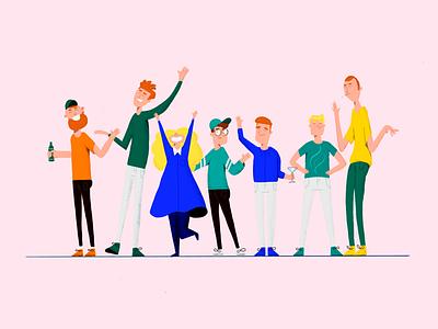 Team Easy Ease character design character design art procreate 2d freelance illustration