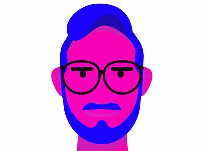 Hello :) flat design glasses illustrator wip illustration face