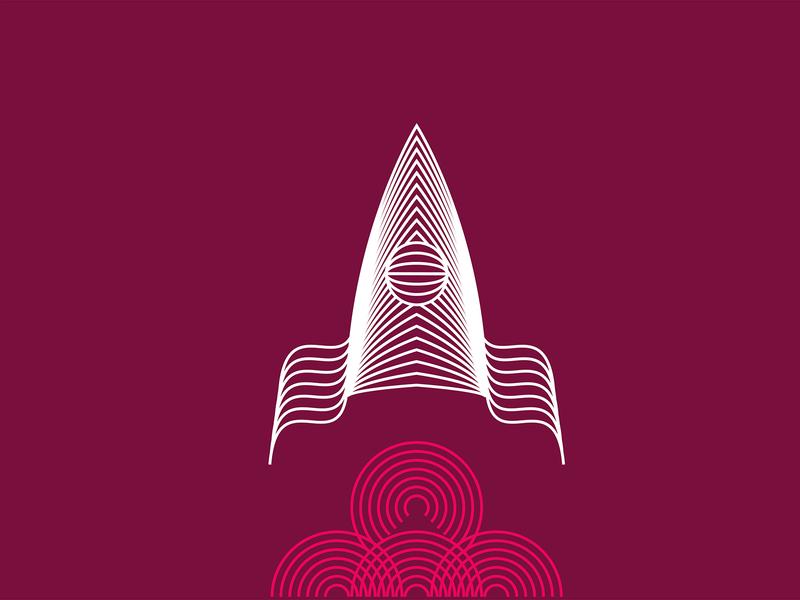 Cosmonautics day illustration drawing color space rocket cosmos vector illustration digital art minimalism