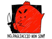 Sticker for Telegram. Pagliaccio