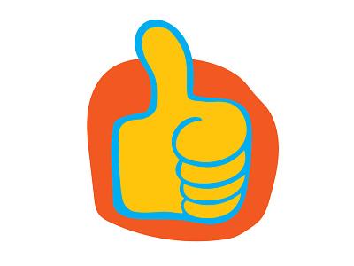 Good Job digital design illustration art hand thumbs up contrast illustration vector illustrator