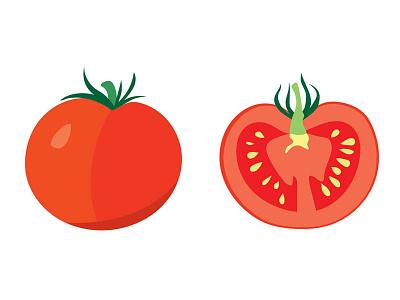 tomatoes tomato vegetable illustrator vector plant illustration
