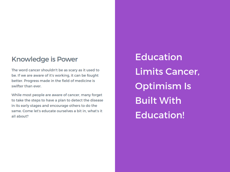 Cancer Knowledge Center - 10KB Challenge 10kb contest voting 10kapart