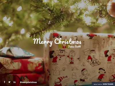 Christmas Greeting - Send Personalized Greetings minimal under construction teaser greeting christmas creative coming soon