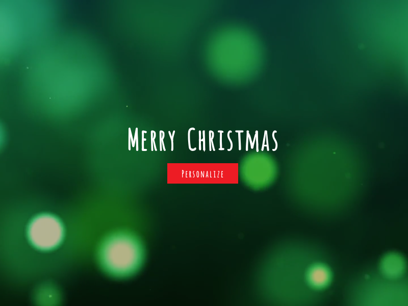 Personalized Christmas Greeting minimal under construction teaser greeting christmas creative coming soon