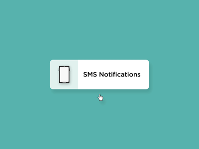 SMS Notifications - Hover State icon logo vector design microinteraction after effects illustration microinteractions animation ux