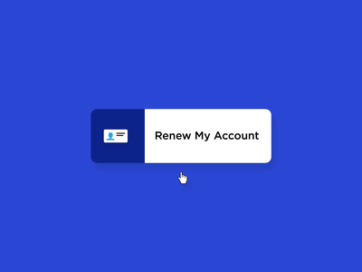 Renew My Account branding icon logo design microinteraction motion graphics microinteractions ui animation ux