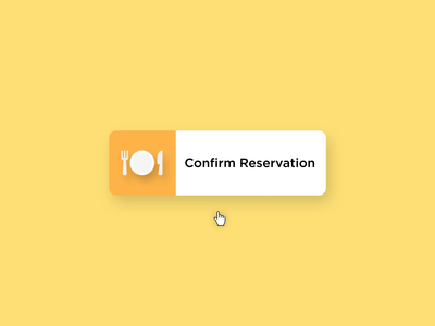 Table Reservation illustration icons principle motion graphics after effects ae microinteractions ui animation ux