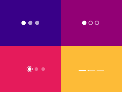 Page Control Indicator — Transitions Collection pagination after effects microinteractions principle ae animation ui ux