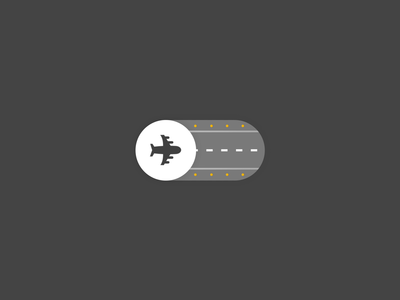 Airplane Mode Toggle branding icons illustration motion graphics after effects microinteractions ae animation ui ux