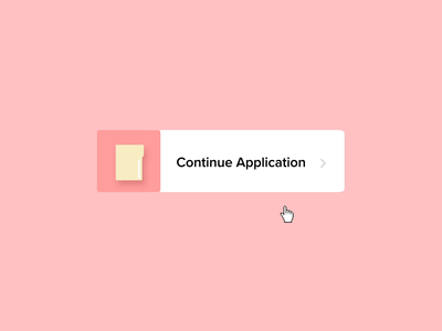 Continue Application Hover microinteraction icon vector design after effects microinteractions ae animation ui ux
