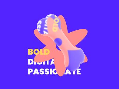 Pupper Characteristics - Bold graphic design glassmorphism glass digital icon vector typography branding minimal 3d