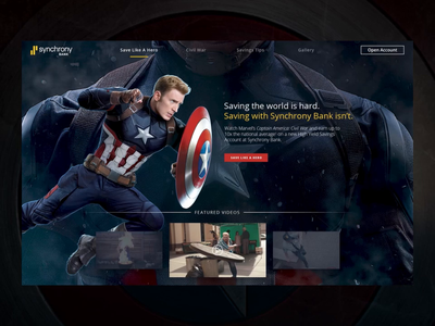 Captain America Landing Page