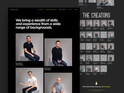 Meet The Team concept colour typography grid website minimal