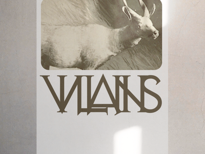 VILLAINS colour concept branding vector layout minimal grid type illustration poster
