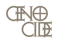 GENOCIDE type branding typography concept poster website type grid minimal layout design