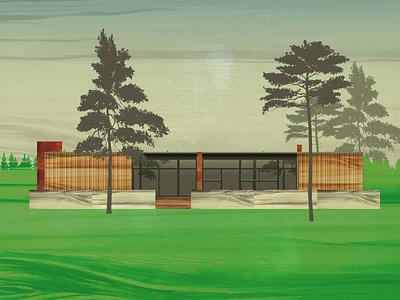 Rand House — Daytime logo colour branding website poster type grid minimal layout design