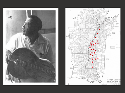 Mississippi Blues - A chronicle. website poster type grid minimal layout design