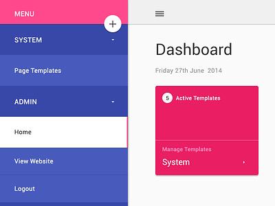 Google's material design google material design layout admin template