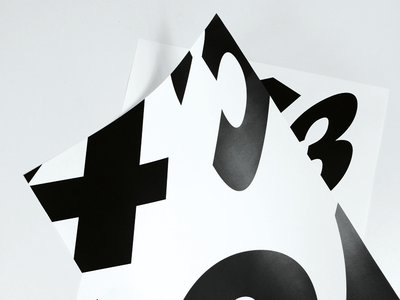 Type experiment big white black grotesk akzidenz type design poster