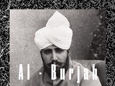 Al ° Burjah grid layout vintage font druk editorial hero war world