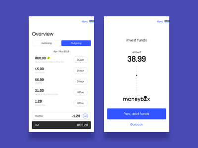 Overview / Invest money management money transfer money app ux banking money ui minimal