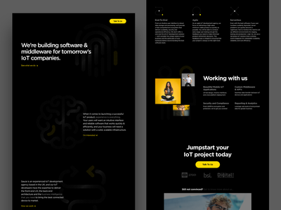 Early Concept - Service Landing Page poster layout typography website minimal design