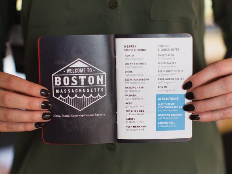 Ahoy badge welcome passport travel boston