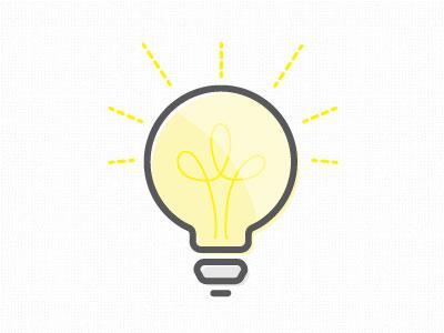 I've got an idea. icon illustration lightbulb