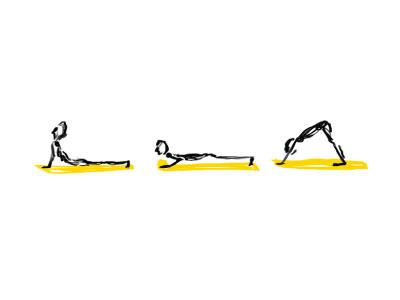 yogin' apple pencil ipad pro ipad sketch illustration yoga