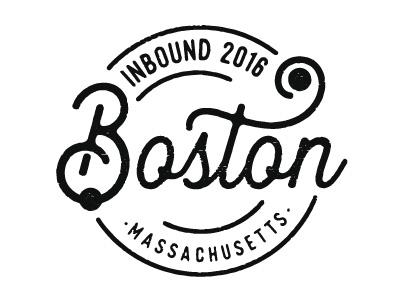 INBOUND16 T-Shirt Design shirt inbound boston texture typography logo