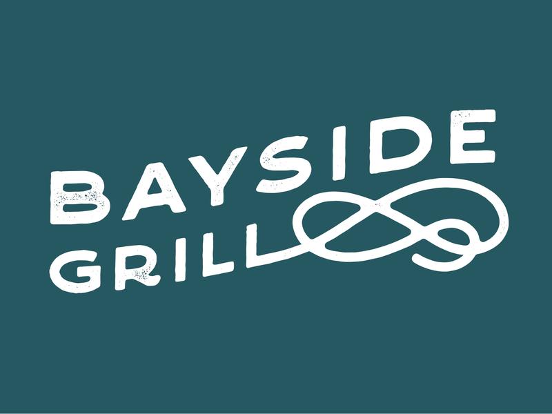 Bayside Grill hotel restaurant branding texture design typography logo