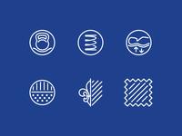 Mattress icons