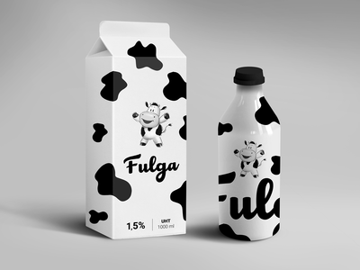 Fulga minimal milk packaging